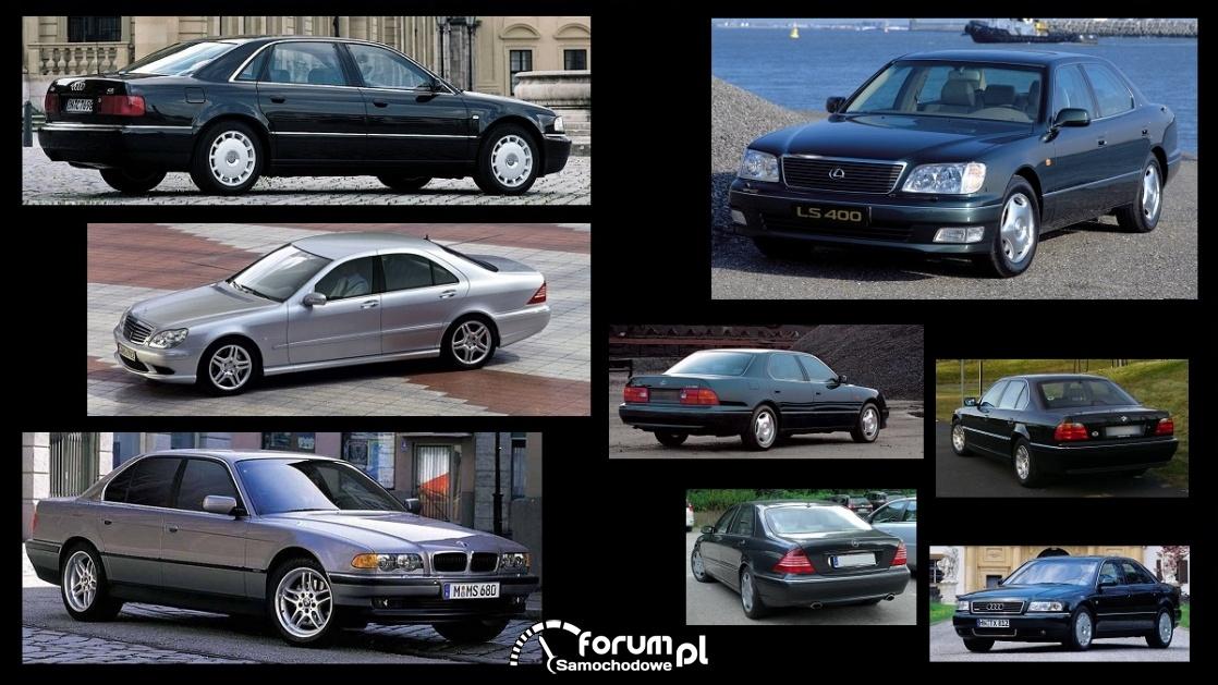 Porównanie: Audi A8 D2, BMW 7 e38, Lexus LS 400 UCF20, Mercedes S w220