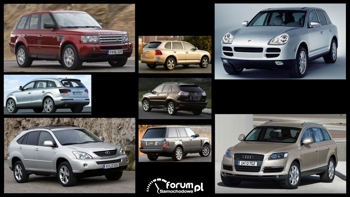 Porównanie: Audi Q7 I, Range Rover III, Lexus RX 400h mk2, Porsche Cayenne I