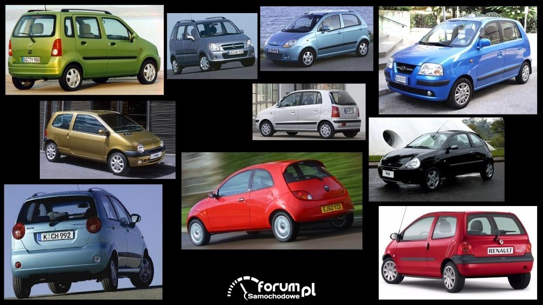 Porównanie: Chevrolet Spark I, Ford Ka I, Hyundai Atos Prime, Opel Agila I, Renault Twingo I