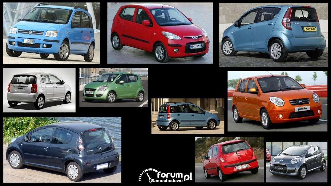 Porównanie: Citroen C1 I, Fiat Panda II, Hyundai i10 I, Kia Picanto I, Suzuki Splash