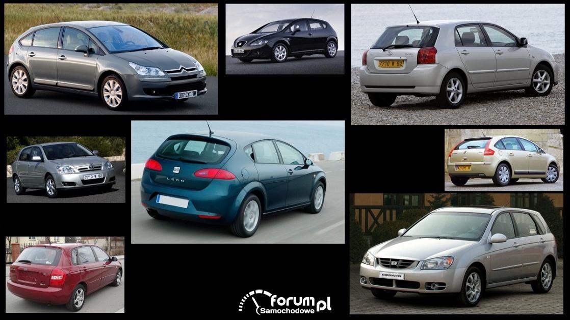 Porównanie: Citroen C4 I, Kia Cerato, Seat Leon II, Toyota Corolla e12