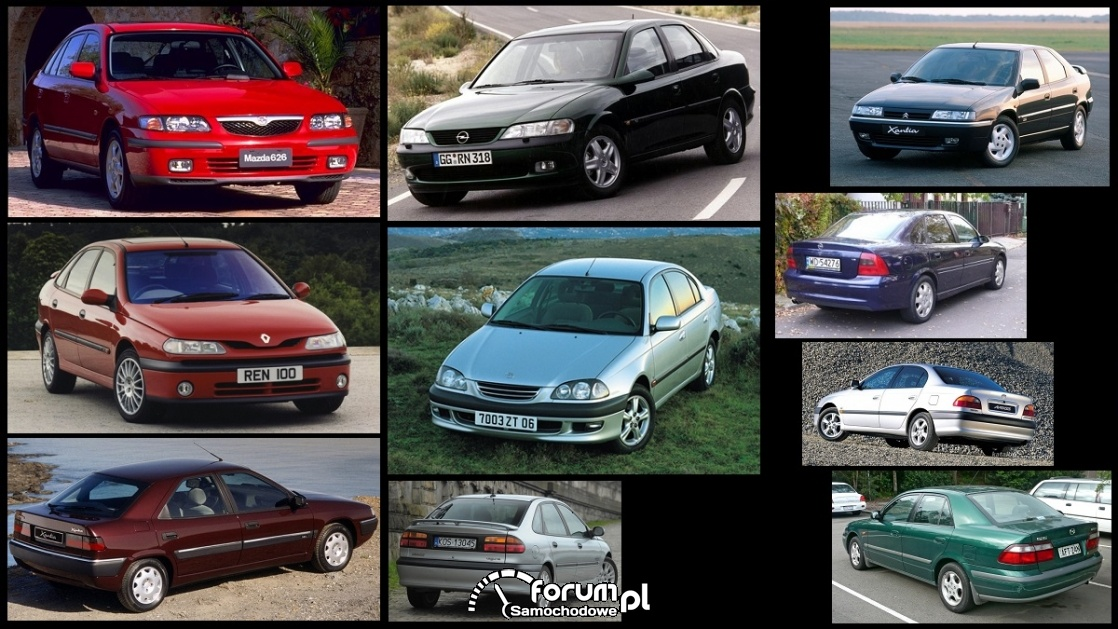Porównanie: Citroen Xantia, Mazda 626 V, Opel Vecrta B, Renault Laguna I, Toyota Avensis I