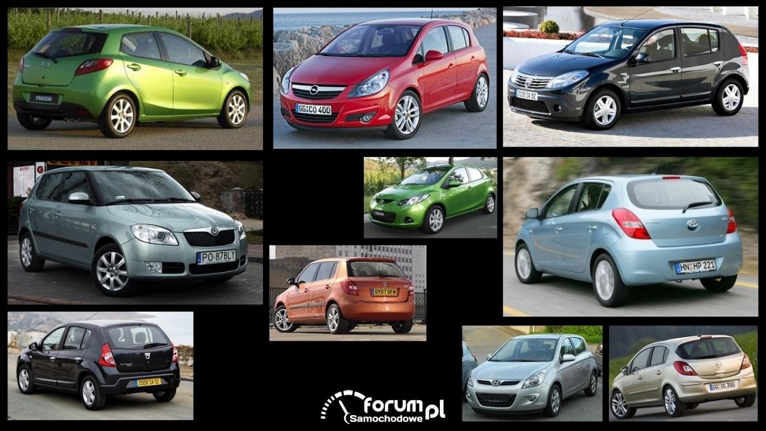 Porównanie: Dacia Sandero I, Hyundai i20 I, Mazda 2 II, Opel Corsa D, Skoda Fabia II