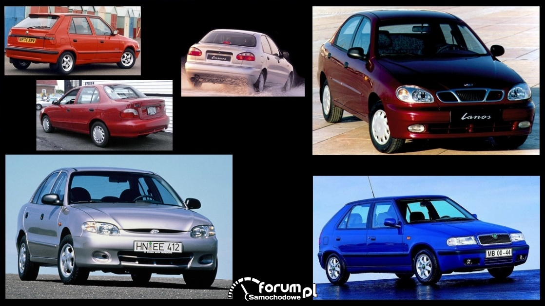 [B] Daewoo Lanos 1,5 / Hyundai Accent I 1,3 / Skoda Felicia 1,6
