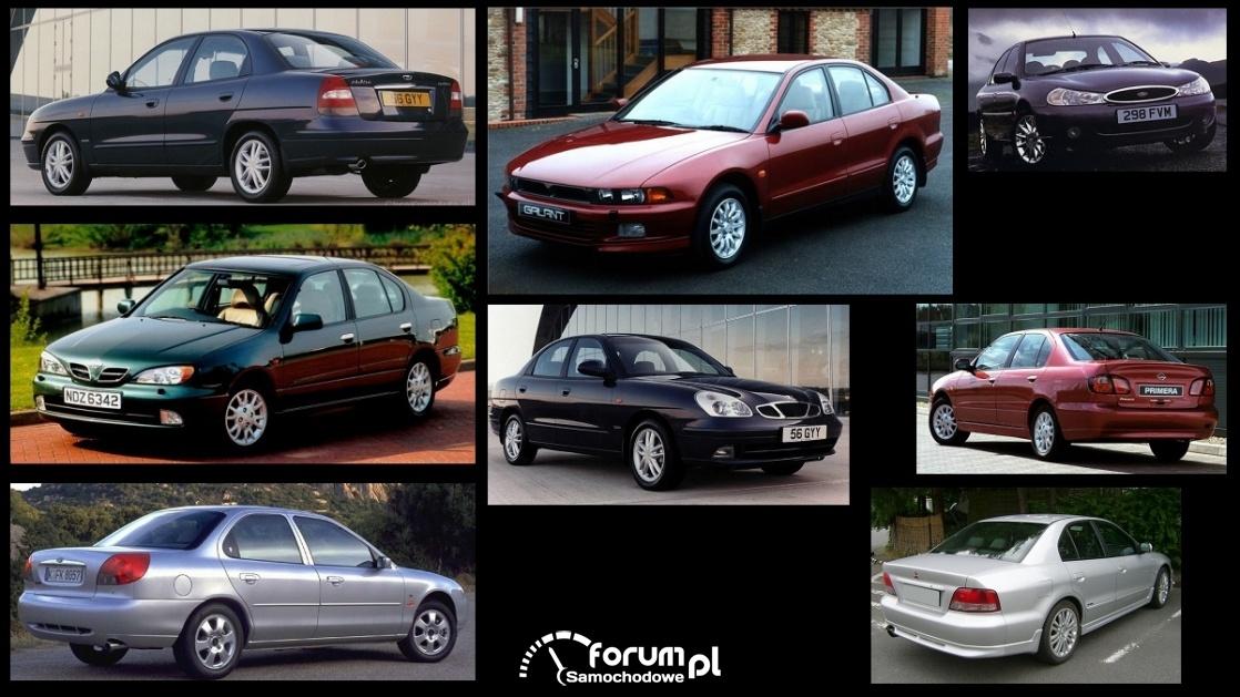 Porównanie: Daewoo Nubira, Ford Mondeo mk2, Mitsubishi Galant VI, Nissan Primera P11