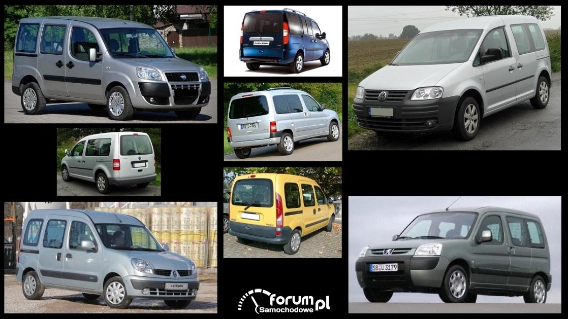 Porównanie: Fiat Doblo I, Peugeot Partner I, Renault Kangoo I, VW Caddy III