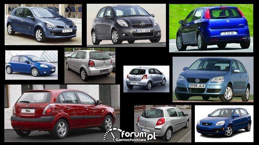 Porównanie: Fiat Grande Punto, Kia Rio II, renault Clio III, Toyota Yaris II, VW Polo IV