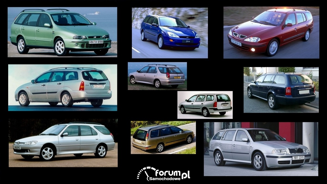 Porównanie: Fiat Marea, Ford Focus mk1, Peugeot 306, Renault Megane I, Skoda Octavia I