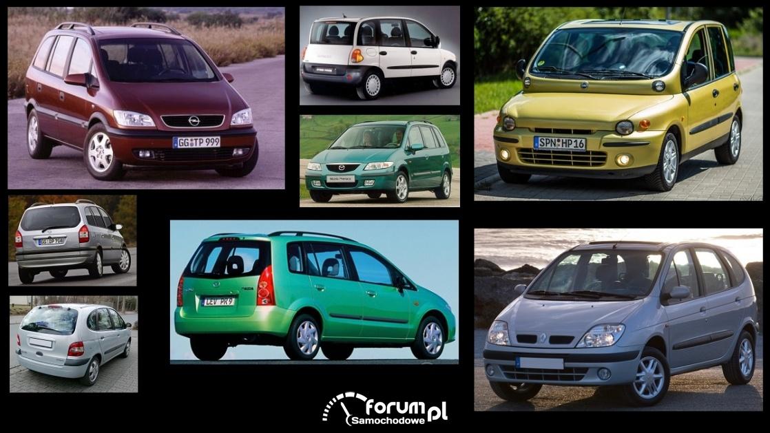 Porównanie: Fiat Multipla, Mazda Premacy, Opel Zafira A, Renault Scenic I