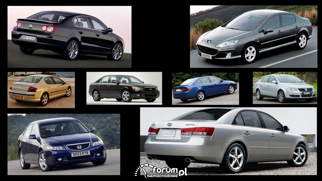 Porównanie: Honda Accord VII, Hyundai Sonata V, Peugeot 407, VW Passat B6