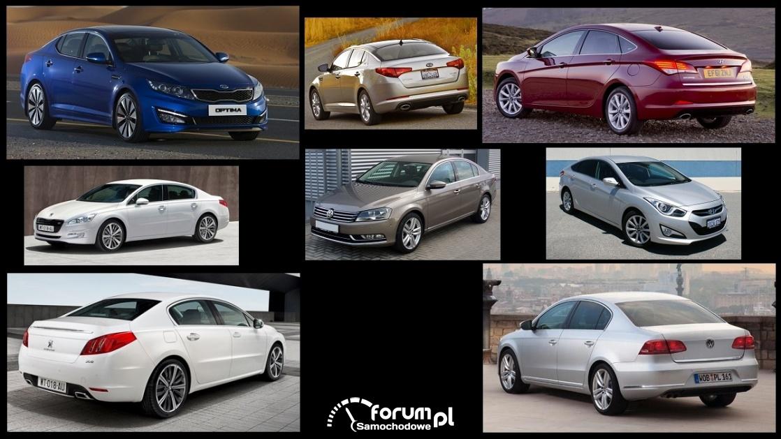Porównanie: Hyundai i40, Kia Optima, Peugeot 508, VW Passat B7