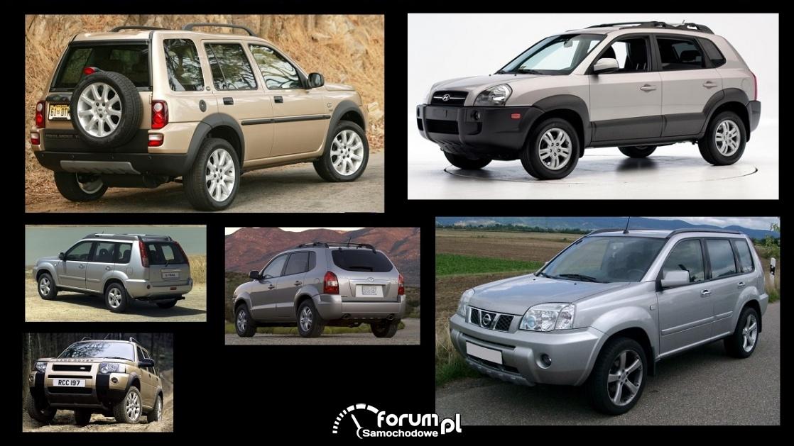 Porównanie: Hyundai Tucson I, Land Rover Freelander I, Nissan X-Trail I