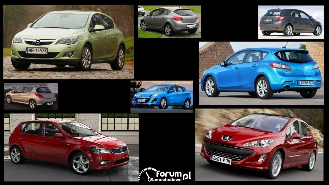 Porównanie: Kia Cee'd I, Mazda 3 II, Opel Astra J, Peugeot 308 I