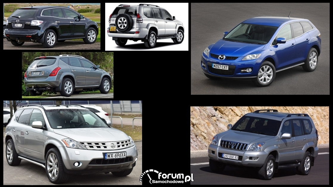 Porównanie: Mazda CX-7, Nissan Murano Z50, Toyota Land Cruiser J120