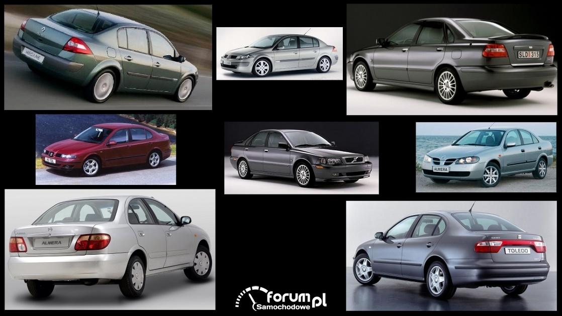 Porównanie: Nissan Almera N16, Renault Megane II, Seat Toledo II, Volvo S40 I
