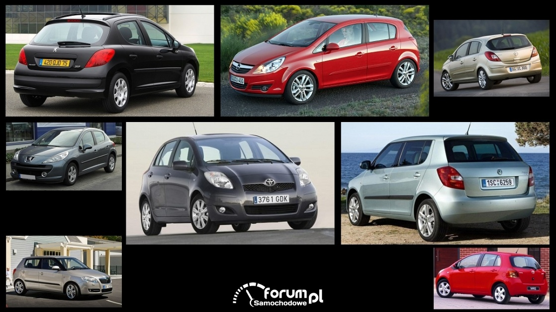 Porównanie: Opel Corsa D, Peugeot 207, Skoda Fabia II, Toyota Yaris II