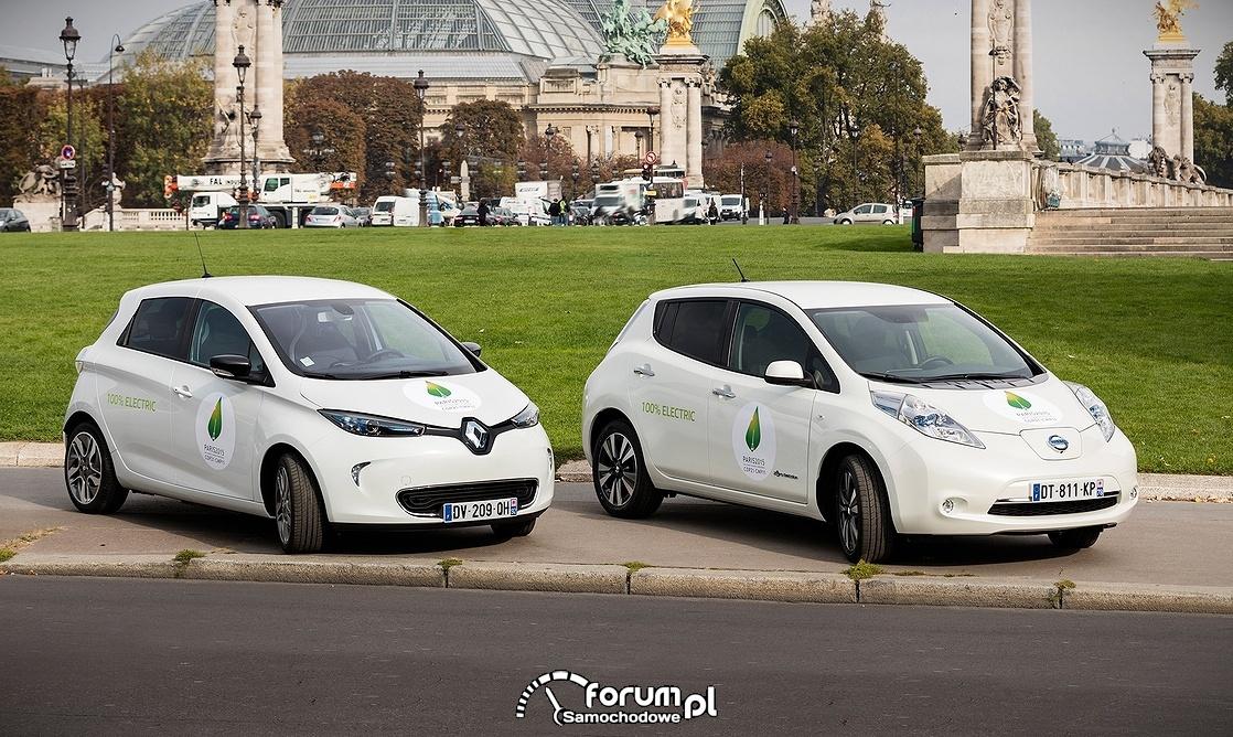 Renault ZOE, Nissan LEAF