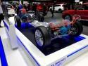 Mitsubishi Outlander PHEV, schemat układu zasilania i napędowego