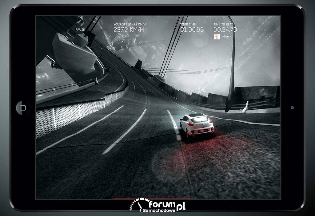 Aplikacja Kia GT RIDE na smartfona, Kia pro ceed GT
