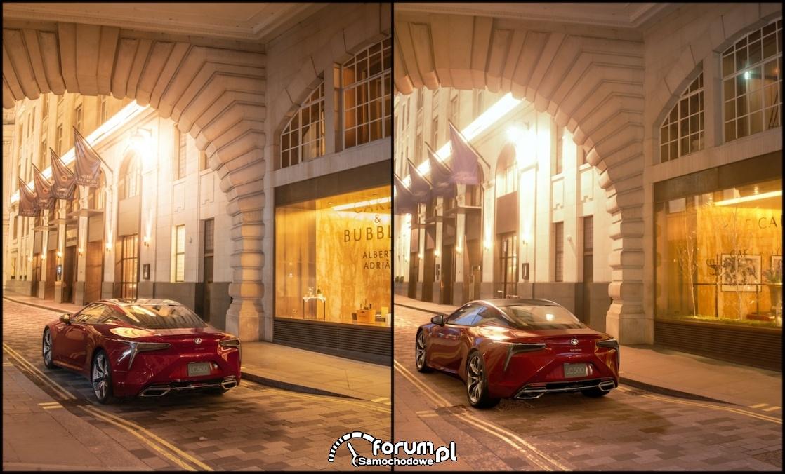 Lexus coupé LC 500, air street - świat realny vs. wirtualny