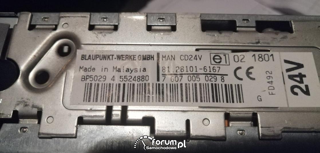 BLAUPUNKT MAN CD 24V