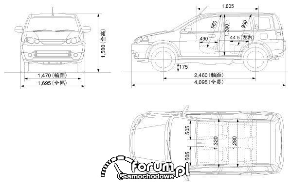 Honda HRV wymiary