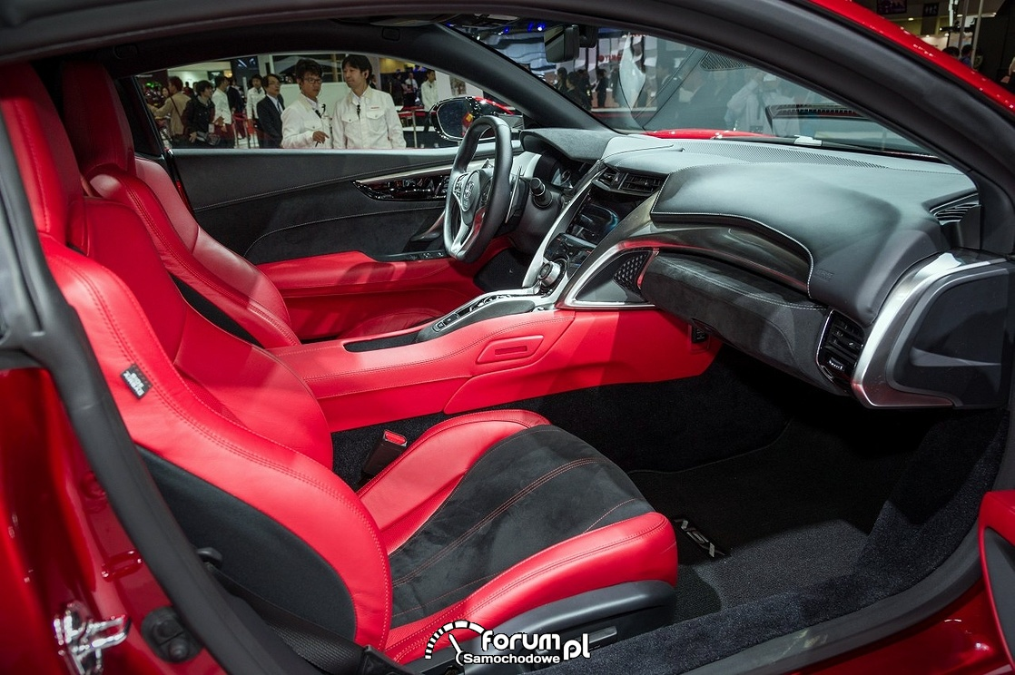 Honda NSX, 2015, wnętrze