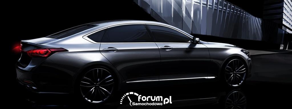 Hyundai Genesis nowej generacji, sedan segmentu Premium, bok