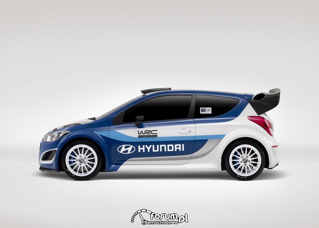 Hyundai i20 WRC, bok