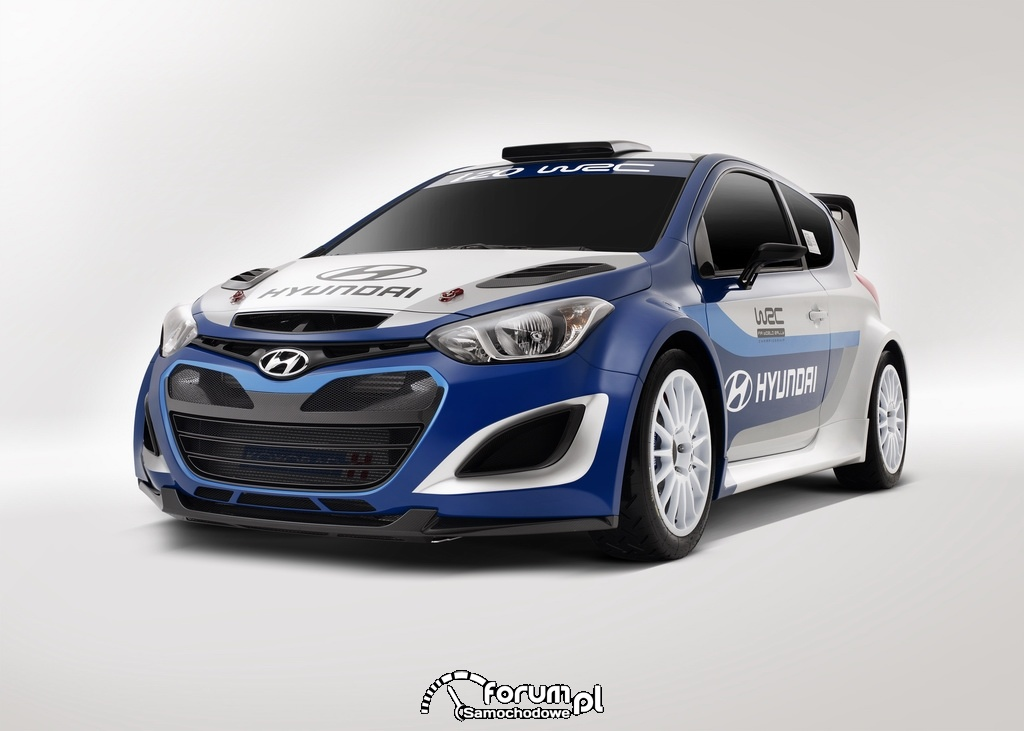 Hyundai i20 WRC, przód