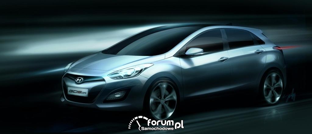 Hyundai i30 - szkic nowego modelu