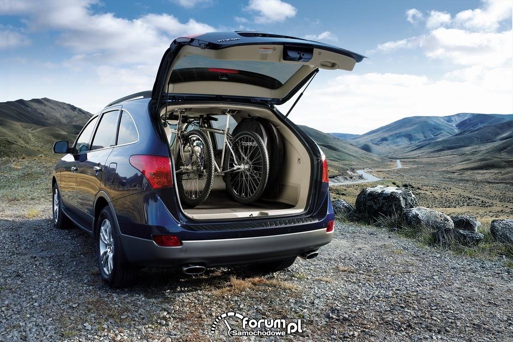 Hyundai IX55, rowery w bagażniku