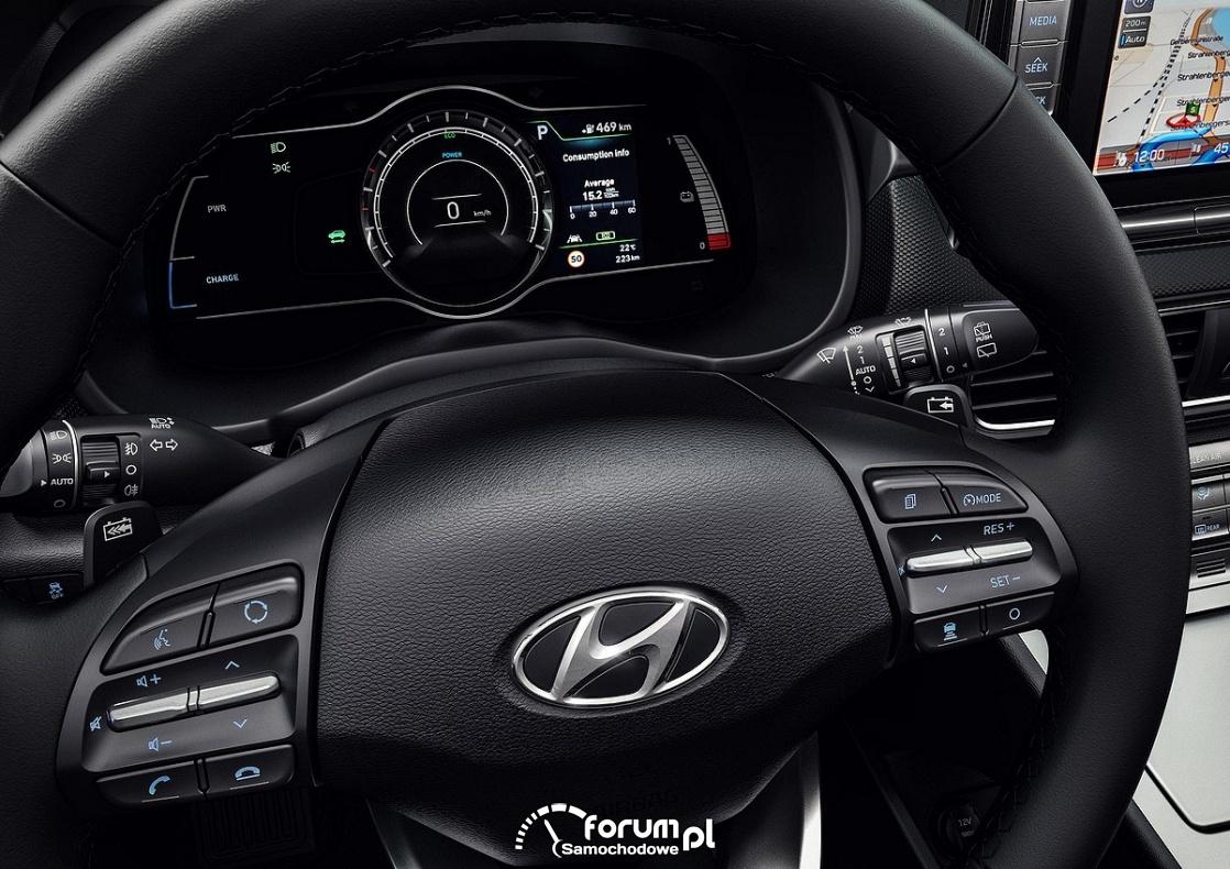 Hyundai Kona Electric, licznik, zegary