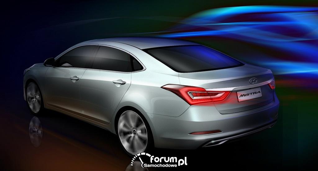 Hyundai Mistra, model koncepcyjny, prototyp, tył