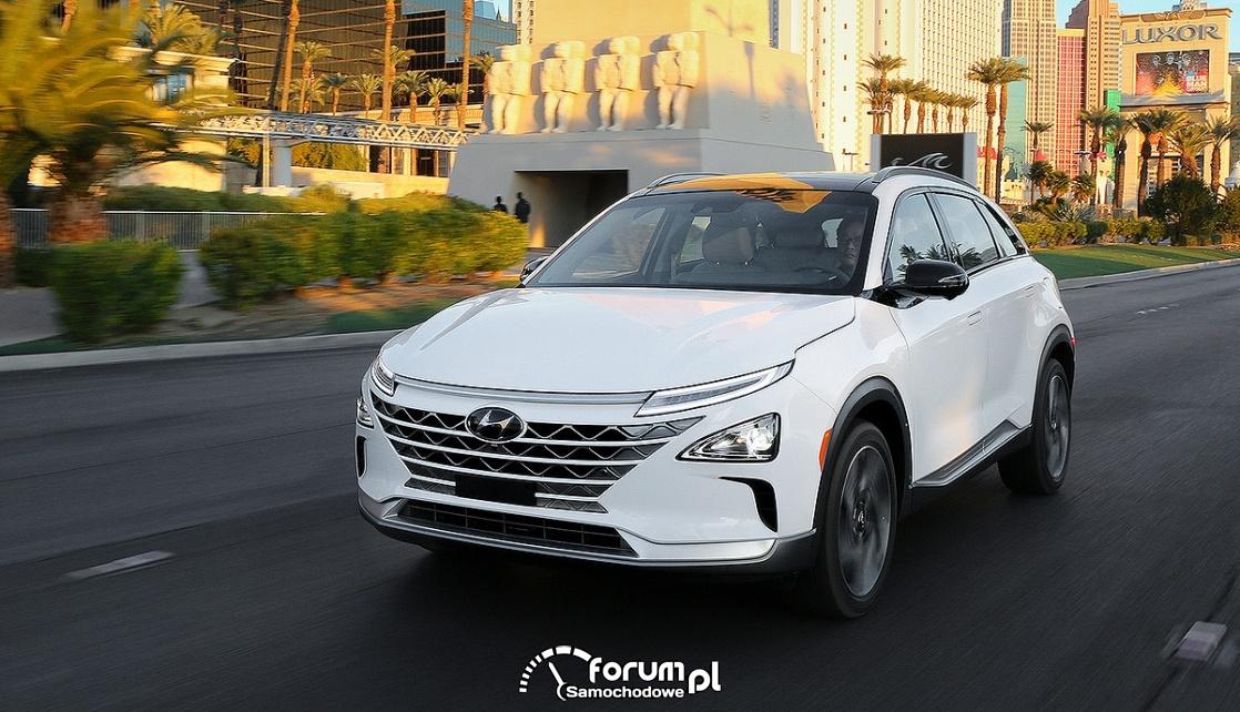 Hyundai NEXO, przód,  zasilany ogniwami wodorowymi