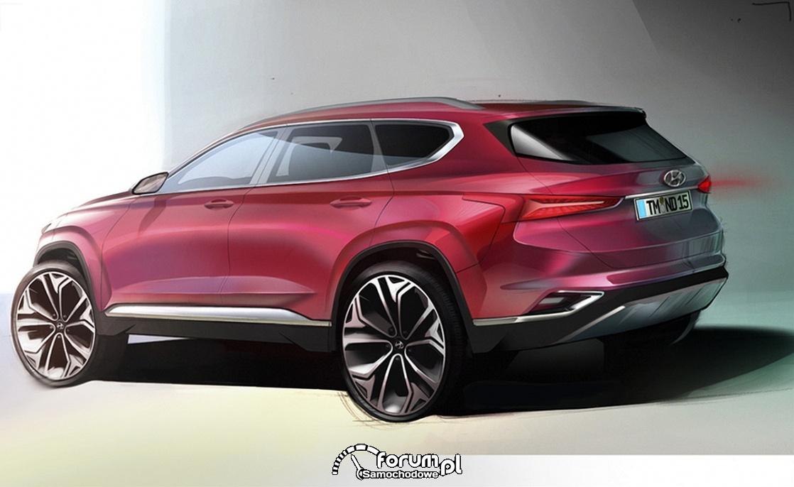 Hyundai Santa FE, 2018, tył