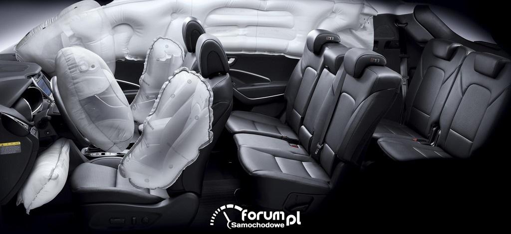 Hyundai Santa Fe, poduszki powietrzne, airbags, 2012