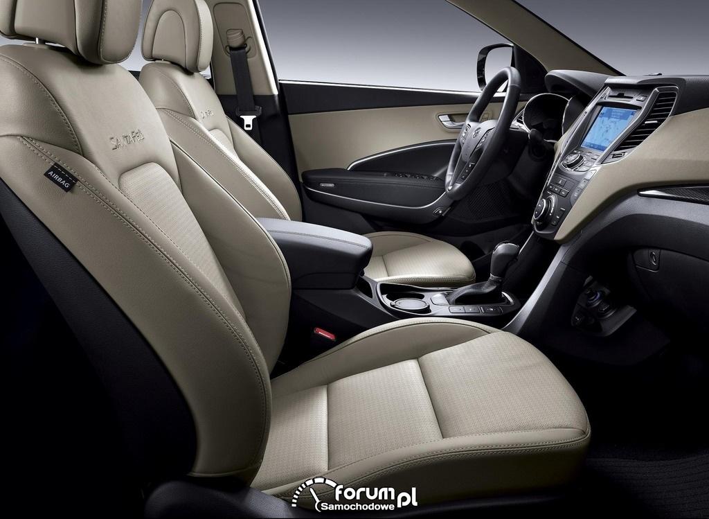 Hyundai Santa Fe, przednie siedzenia, 2012