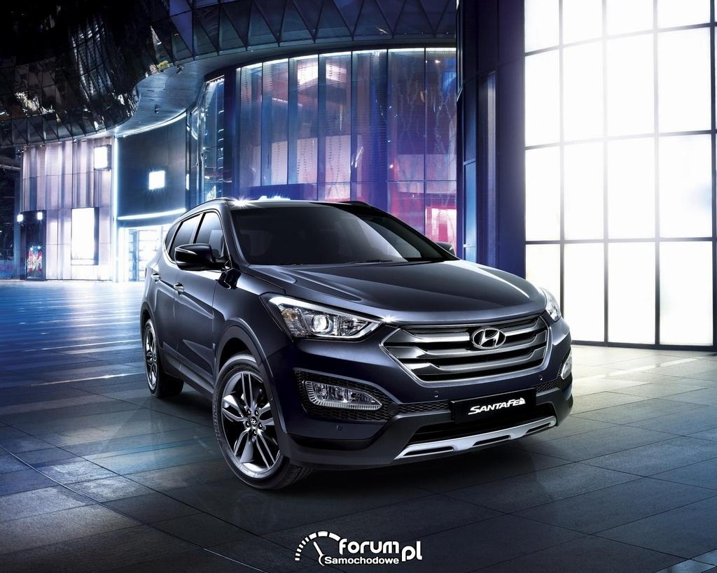 Hyundai Santa Fe, przód, czarno-fioletowy, 2012