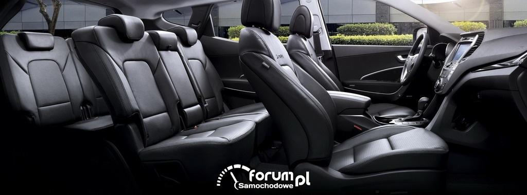 Hyundai Santa Fe, wnętrze, 2012
