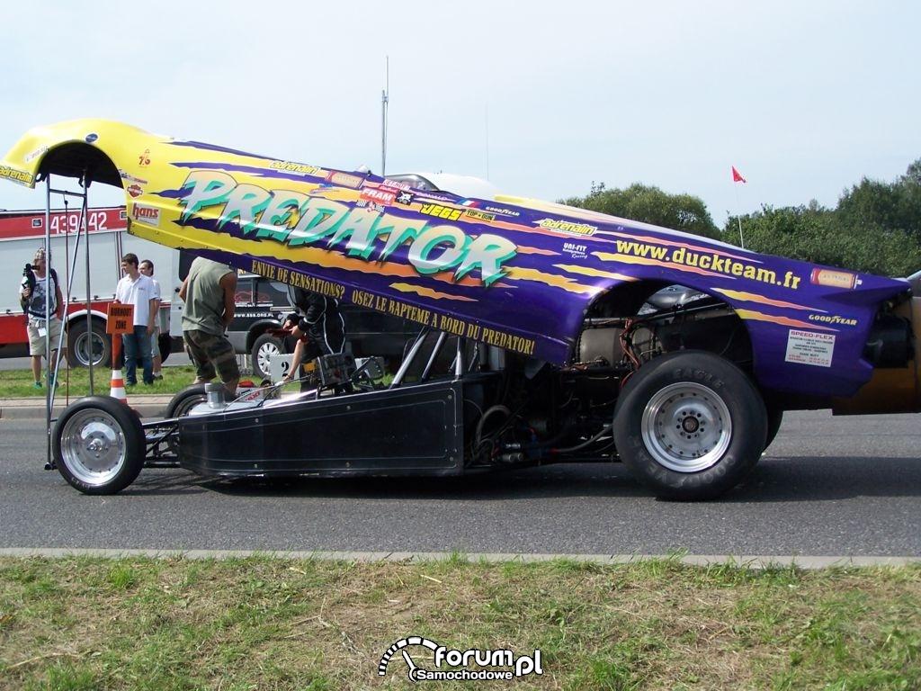 Predator, samochód odrzutowy, przed startem