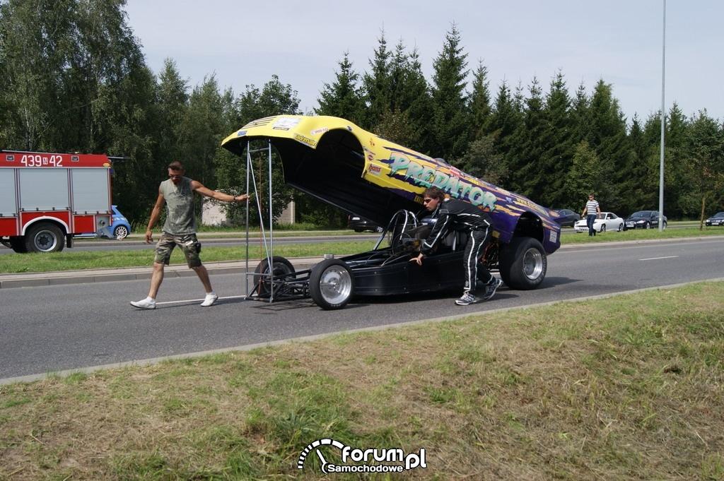 Samochód odrzutowy - Predator, przed startem, 2