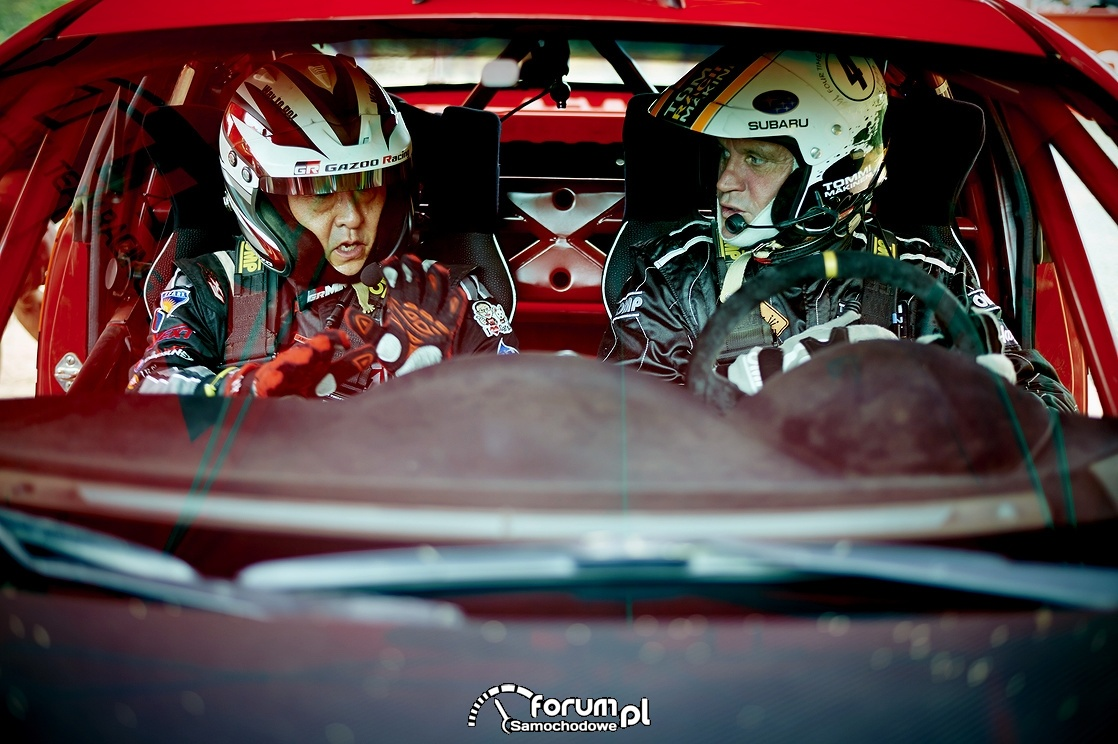 Akio Toyoda i Tommi Mäkinen