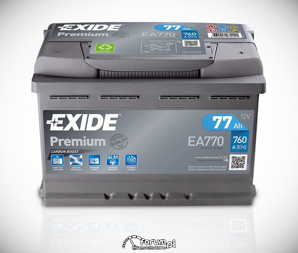 Akumulator Exide Premium EA770, 77Ah, 760A