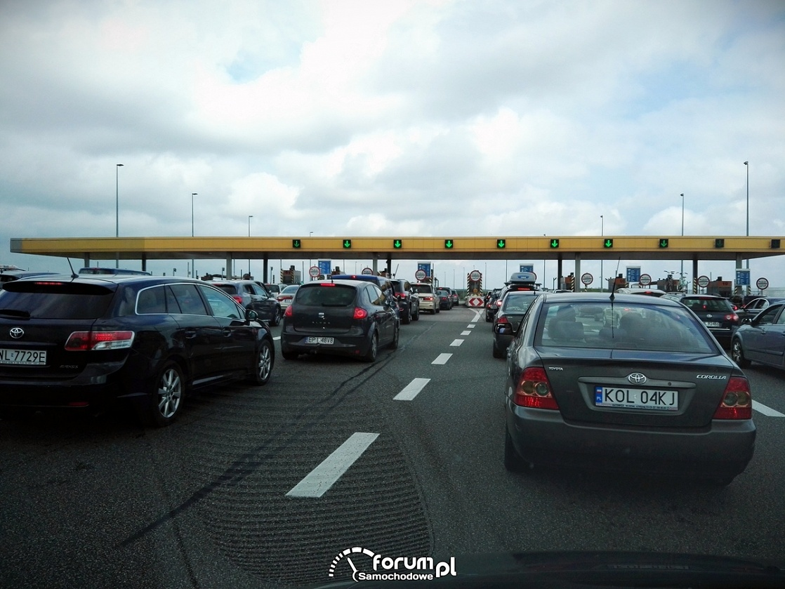 Bramki na autostradzie