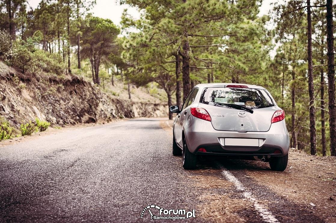 Droga w górach, last, Mazda2
