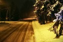 Droga zimą, śnieg