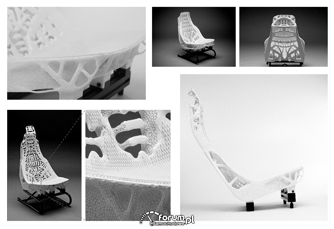 Fotel samochodowy z drukarki 3D