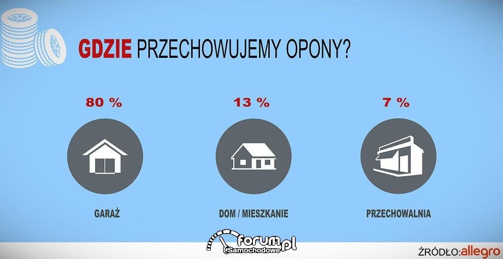 Gdzie Polacy przechowują opony