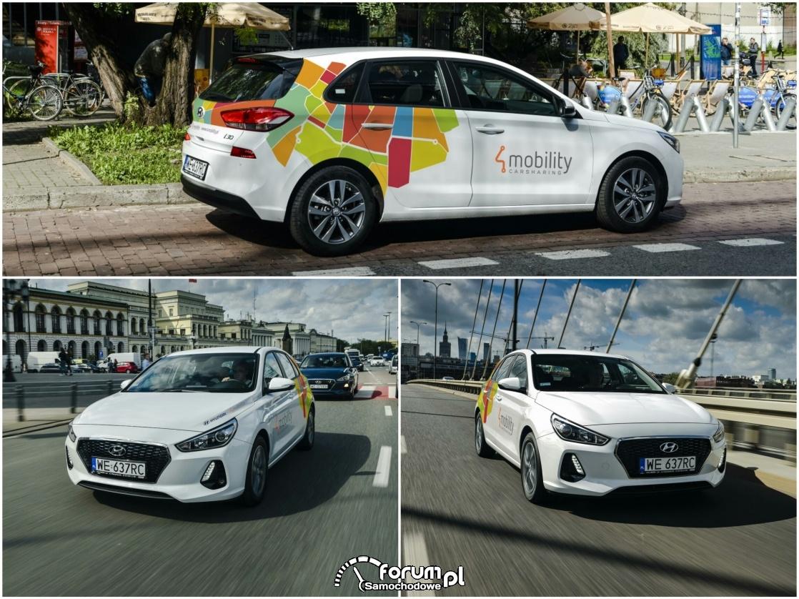 Hyundai i30, carsharing, Warszawa, 4Mobility